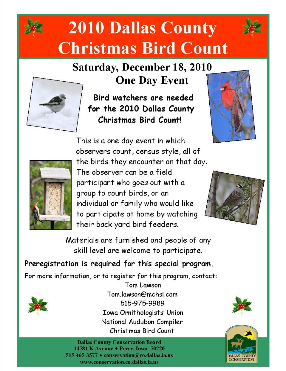 2010 Dallas County Christmas Bird Count