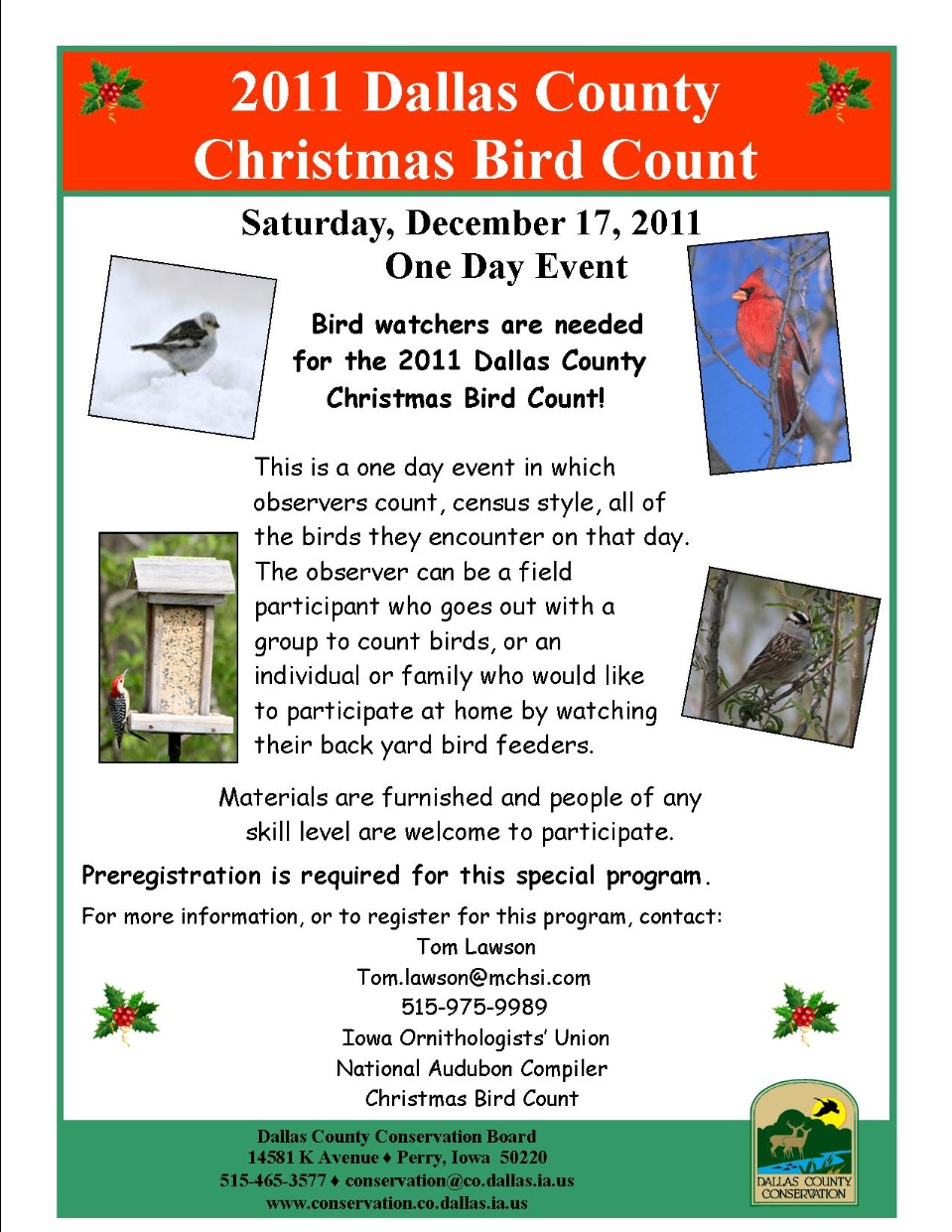 2011 Christmas Bird Count Flyer