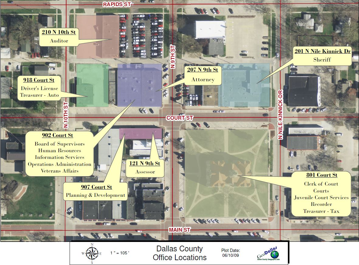Dallas County Office Building Map